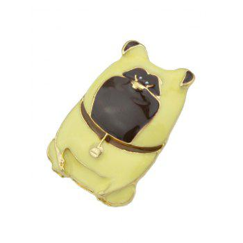 Dog with Bells Pattern Pet Lovers Gift Brooch - YELLOW