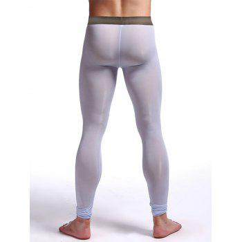 Perspective Printed Gym Pants - LIGHT BLUE L
