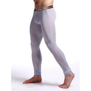 Perspective Printed Gym Pants - LIGHT BLUE M