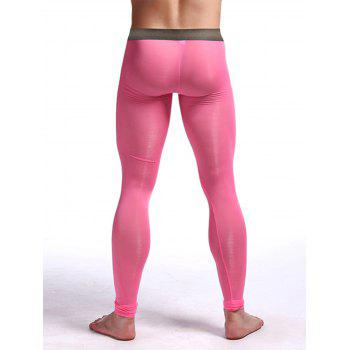 Perspective Printed Gym Pants - PINK M