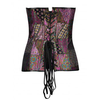 Lace-up Brocade Vintage Corset - COLORMIX M