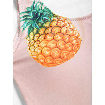 Novelty Pineapple One Piece Beachwear - YELLOWISH PINK XL