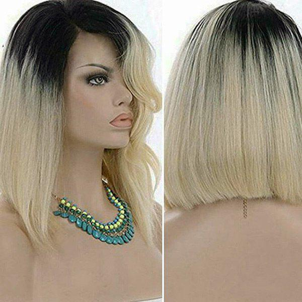 Short Side Part Straight Bob Colormix Synthetic Wig - GRADIENT COLOR