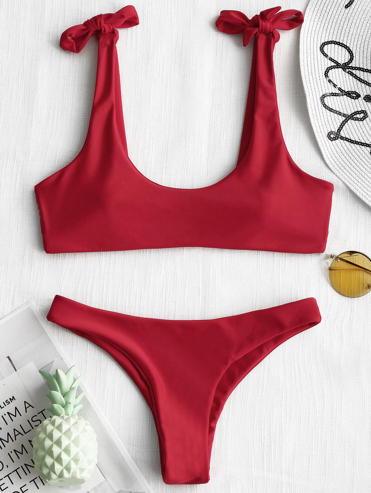 Фото Knot Tied Low Waisted Bikini checker knot bikini set