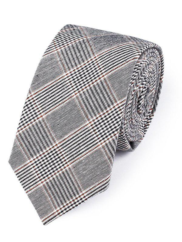 Vintage Striped Pattern Silky Neck Tie - BROWN