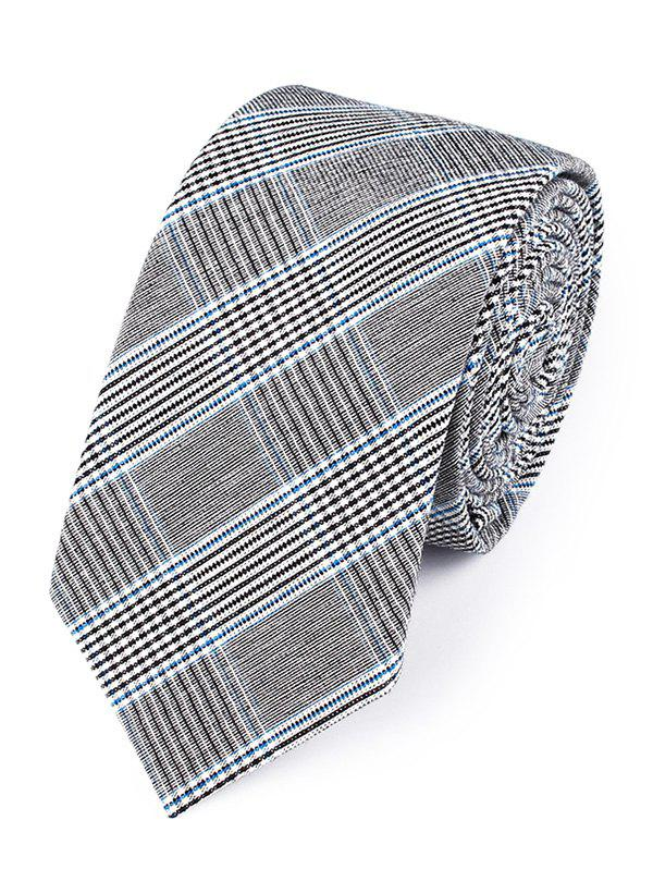Vintage Striped Pattern Silky Neck Tie - BLUE
