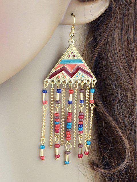 Vintage Tassel Metal Hook Drop Earrings - COLORMIX