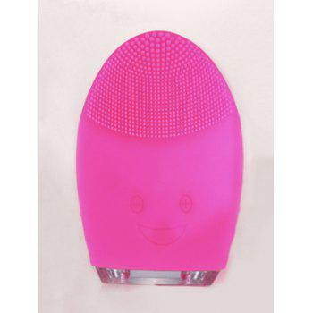 Waterproof Pulse Massage Brush Silicone Sonic Face Cleanser Device - TUTTI FRUTTI