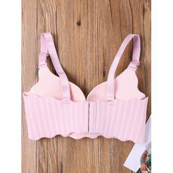 Seamless Scalloped Edge Striped Bra - LIGHT PINK 80B