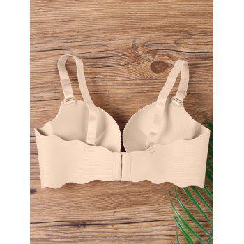Scalloped Edge Full Cup Seamless Bra - COMPLEXION 75B