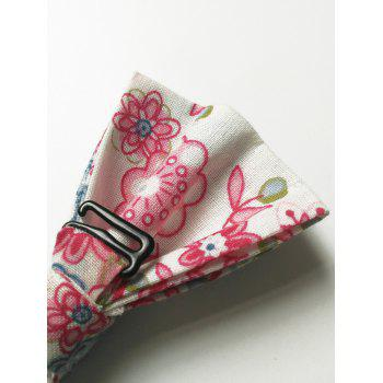 Floral Pattern Formal Bow Tie Handkerchief Set - ROSE MADDER