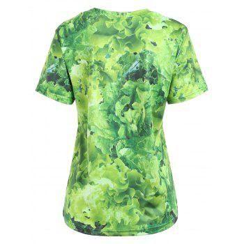 Casual Raw Meat Tee - GREEN S