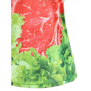 Casual Raw Meat Tee - GREEN M