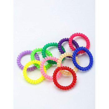 Plastic Twisty Stretchy Hair Bands Set - COLORMIX