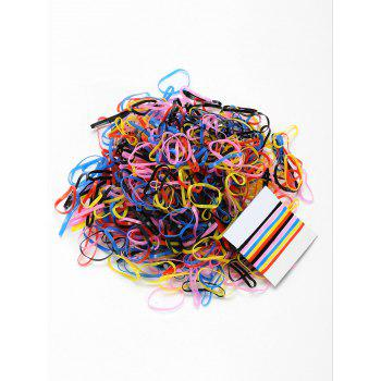 500 Pieces Elastic Hair Bands - PATTERN C