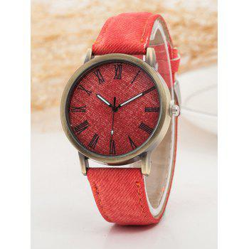 Roman Numerals Casual Watch - RED