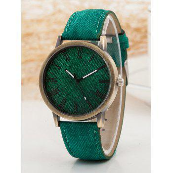 Roman Numerals Casual Watch - GREEN