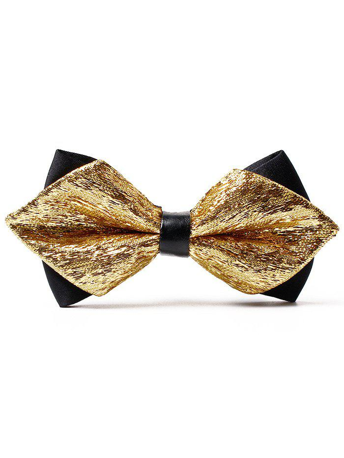 Unique Host Groomsmen Shimmer Bow Tie - GOLDEN