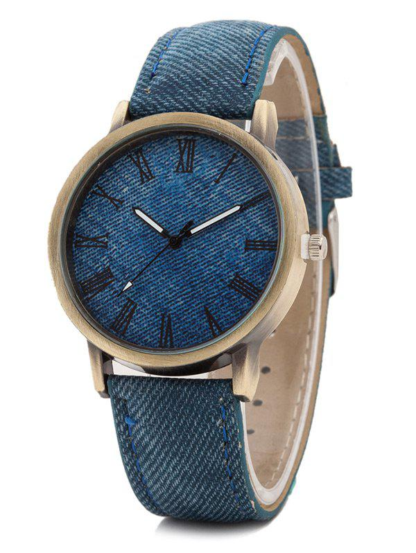 Roman Numerals Casual Watch - BLUE