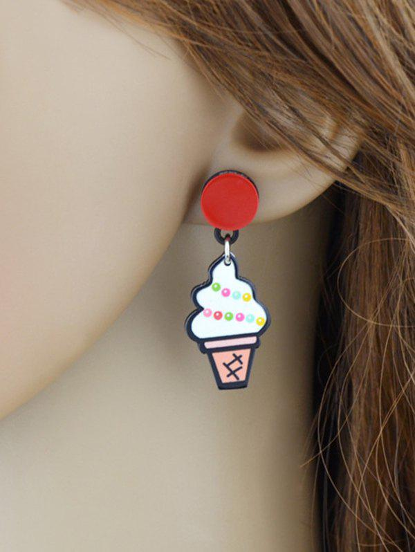 Delicious Ice Cream Stud Drop Earrings - WHITE