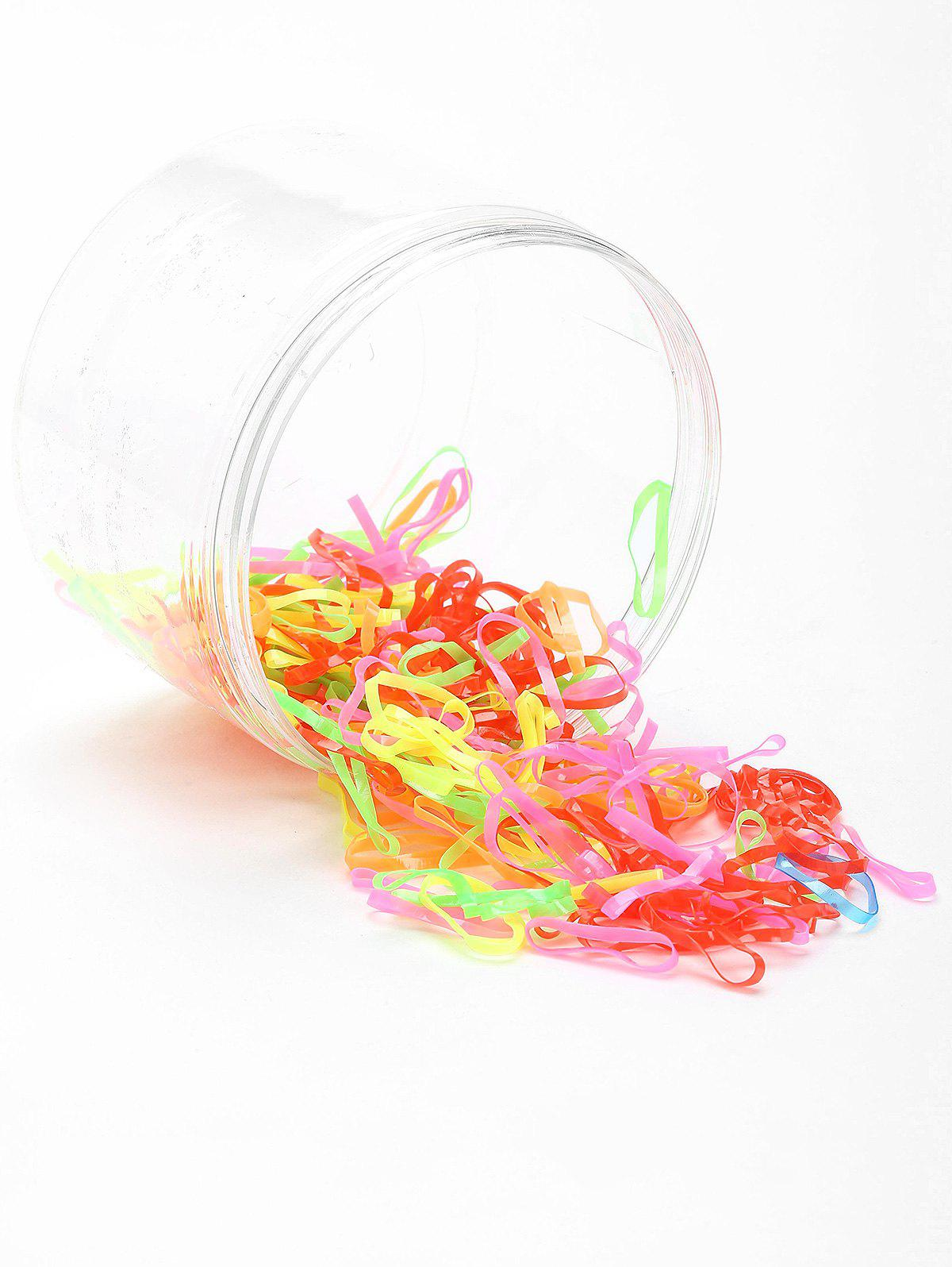 100 Pieces Elastic Hair Bands Set - PATTERN A