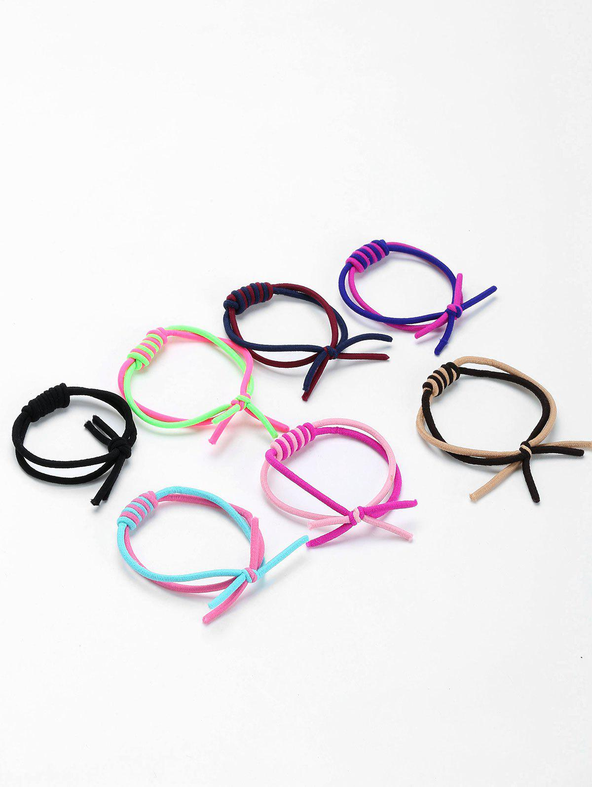 Layered Binding Elastic Hair Bands Set - COLORMIX