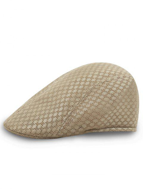Simple Mesh Breathable Newsboy Hat - KHAKI