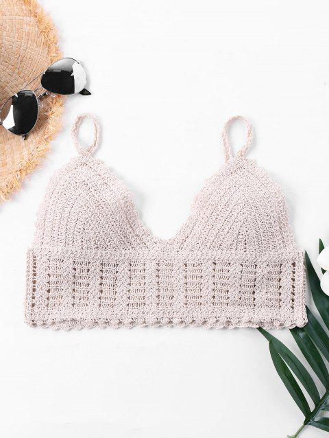 Knit Short Cover Up Top - APRICOT M