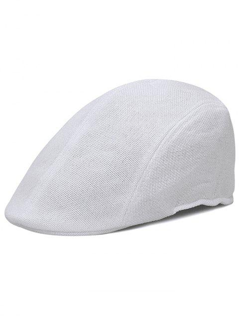 Simple Solid Color Breathable Duckbill Hat - WHITE