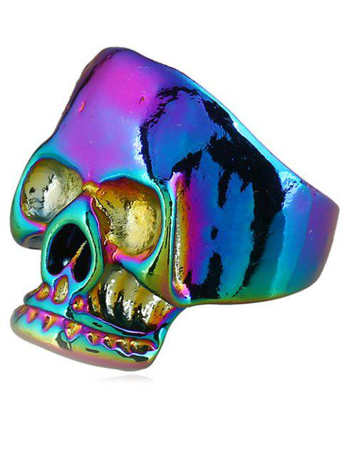 Retro Plated Evil Skull Alloy Biker Ring - COLORMIX ONE-SIZE