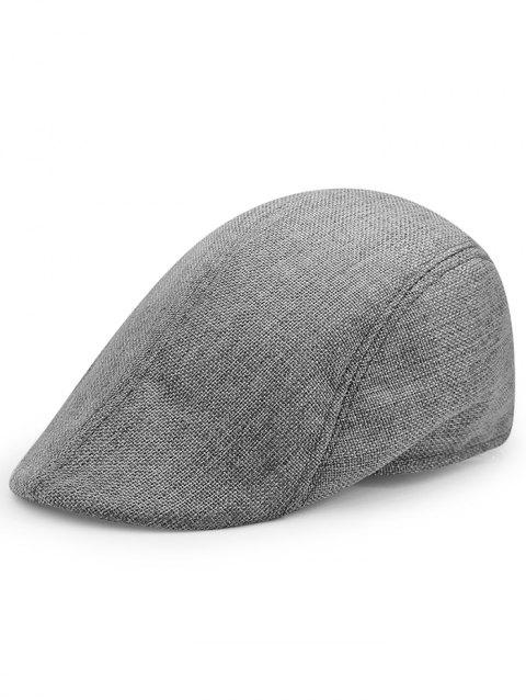 Simple Solid Color Breathable Duckbill Hat - DEEP GRAY