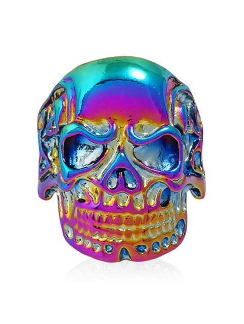 Punk Biker Plated Skull Metal Ring - COLORMIX ONE-SIZE