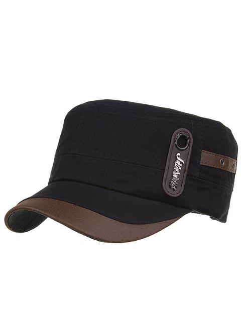 Unique JEANS Label Adjustable Army Hat - BLACK