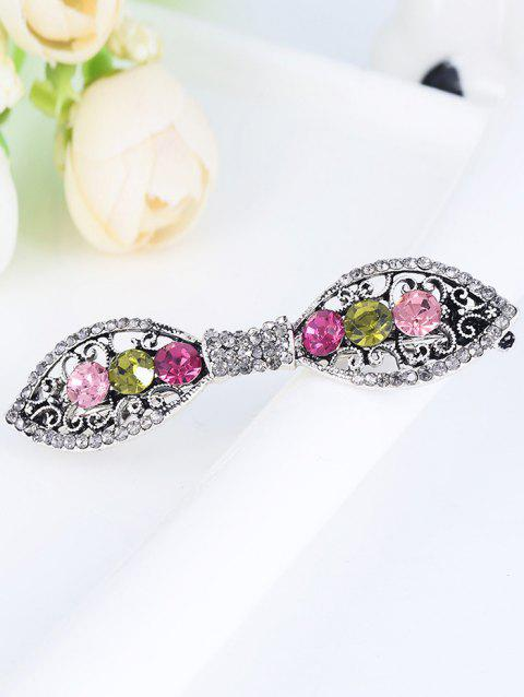 Rhinestones Simple Bowknot Carve Hair Clip - COLORFUL