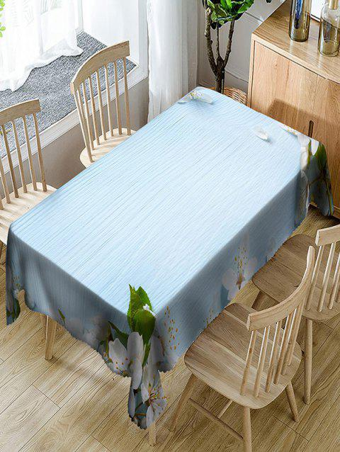 Flower Print Waterproof Table Cloth - CLOUDY W60 INCH * L84 INCH