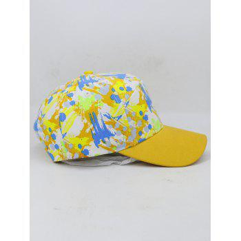 Painting Pattern Adjustable Graphic Hat - YELLOW