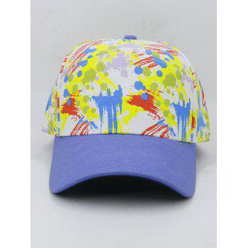 Painting Pattern Adjustable Graphic Hat - BLUE