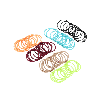 Crooked Elastic Hair Band Group Set - COLORMIX