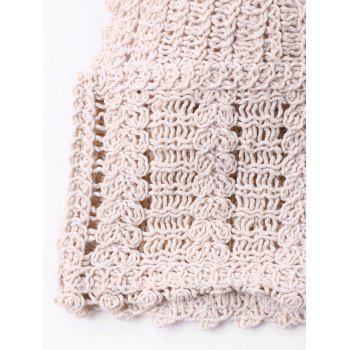 Knit Short Cover Up Top - APRICOT S