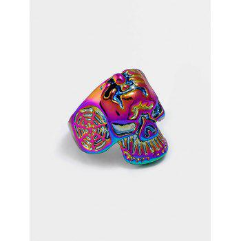 Retro Skull Carved Metal Biker Ring - COLORMIX ONE-SIZE