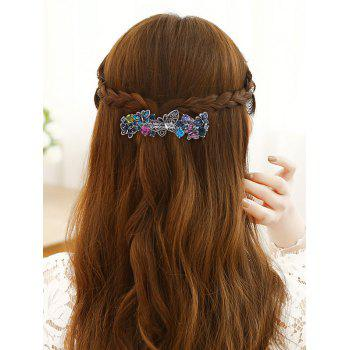 Papillon strass Long Clip cheveux - coloré