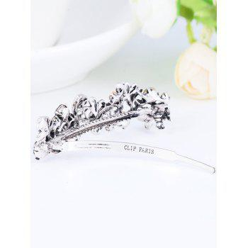Rhinestone Butterfly Long Hair Clip - COLORFUL