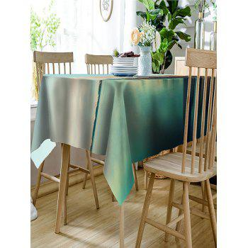Modern Skyscrapers Scenery Printed Table Cover - GREEN W54 INCH * L72 INCH