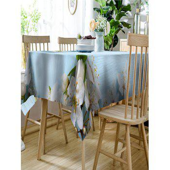 Flower Print Waterproof Table Cloth - CLOUDY W54 INCH * L54 INCH