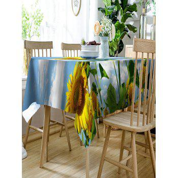 3D Sunflowers Printed Waterproof Table Cloth - COLORMIX W54 INCH * L54 INCH