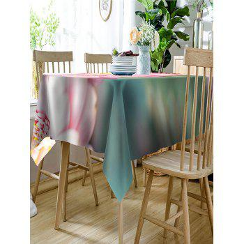 Flower Pattern Waterproof Polyester Table Cloth - PINK W60 INCH * L84 INCH