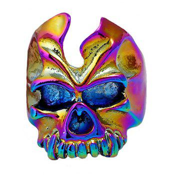 Retro Metallic Skull Embellished Ring - COLORMIX ONE-SIZE