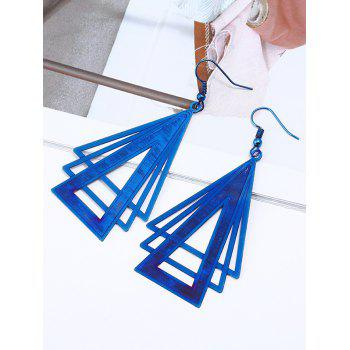 Plated Stainless Steel Triangle Drop Earrings - BLUE