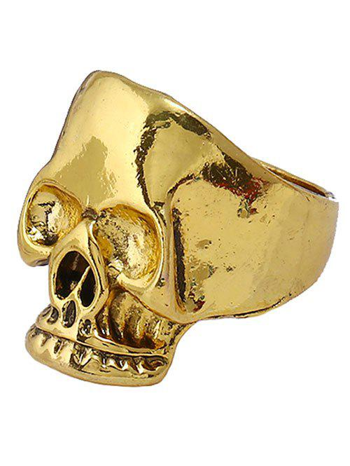Retro Plated Evil Skull Alloy Biker Ring - GOLDEN ONE-SIZE