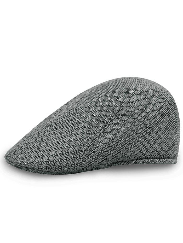 Simple Mesh Breathable Newsboy Hat - BLUE GRAY